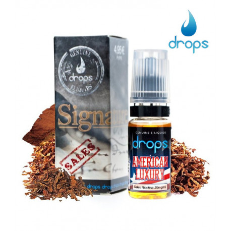 E-líquido Drops American Luxury Sales de Nicotina 20mg/ml 10ml