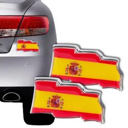 Pegatinas para Coches Bandera de España (pack de 2)