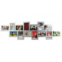 Portafotos Offset de Madera Plateada