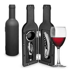 Estuche Vino forma Botella (3 Piezas)