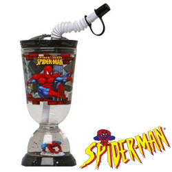 Vaso Base con Pajita Spiderman 275 ml