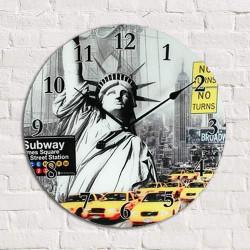 Reloj de Pared de Vidrio Ciudades del Mundo Nueva York