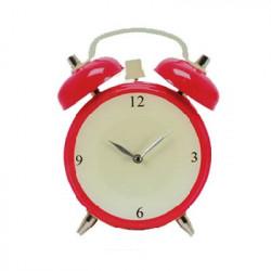 Reloj de Pared de Cristal Despertador Rojo