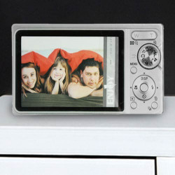 Portafotos de Vidrio Cámara de Fotos Negro