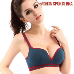 Sujetador Fashion Sports Bra Azul Marino L