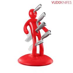 Juego de Cuchillos Porta Cuchillos VUDÚKNIFES Rojo