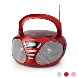 Radio CD Stereo AudioSonic CD1568 Rojo