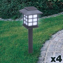 Lámpara Solar Jardín (pack de 4)