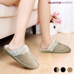 Zapatillas de Casa Relax Fur Negro 38