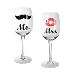 Copas de Vino Mr & Mrs