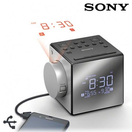 Radio-Despertador con Proyector Sony ICFC1PJ