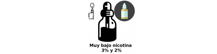 MUY BAJO NICOTINA 3mg 2mg